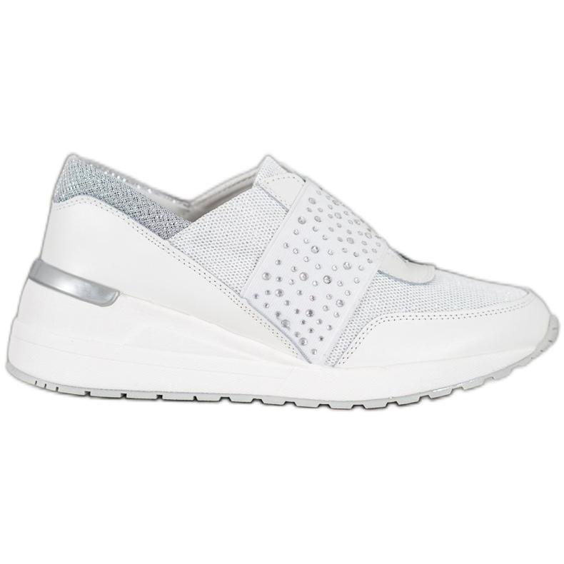 Wsuwane Sneakersy Z Kryształkami VINCEZA białe
