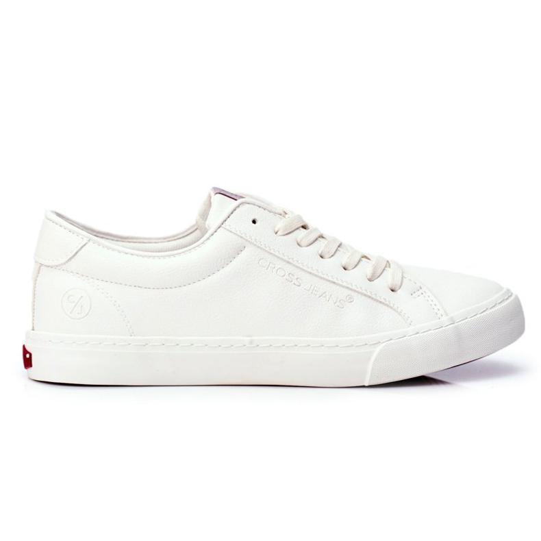 Trampki Męskie Cross Jeans Białe FF1R4035C