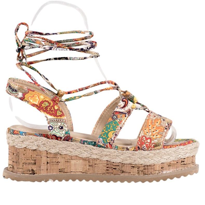 Seastar Wiązane Koturny Fashion wielokolorowe