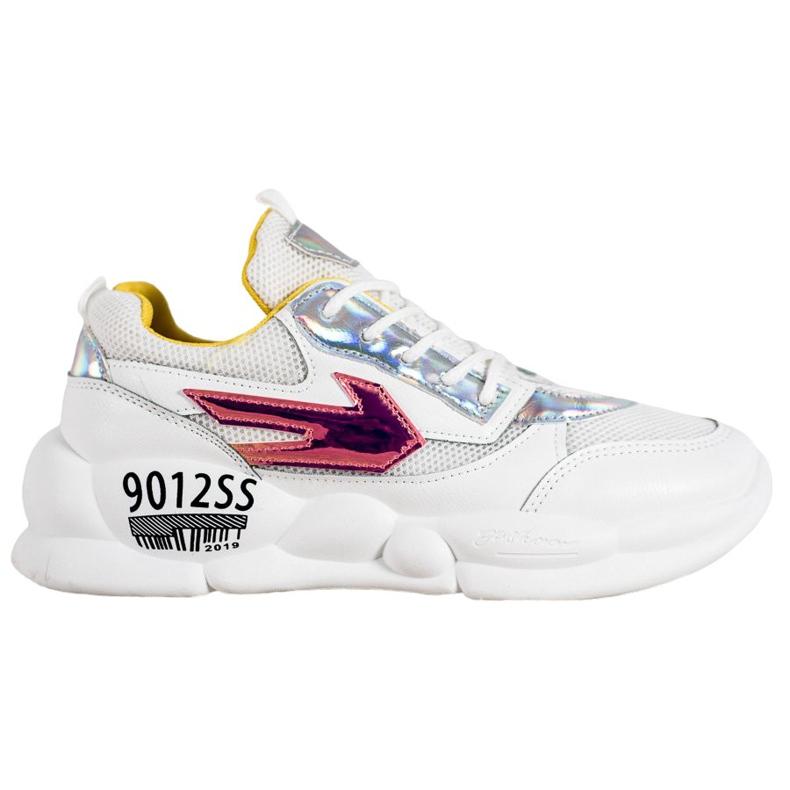SHELOVET Sneakersy Z Eko Skóry Fashion