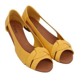 Baleriny wycięte miodowe CC221P Yellow żółte