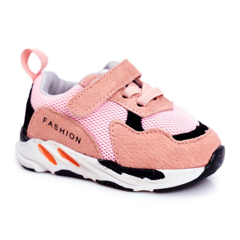 Apawwa Sportowe Buty Dziecięce na Rzep Różowe Yetto