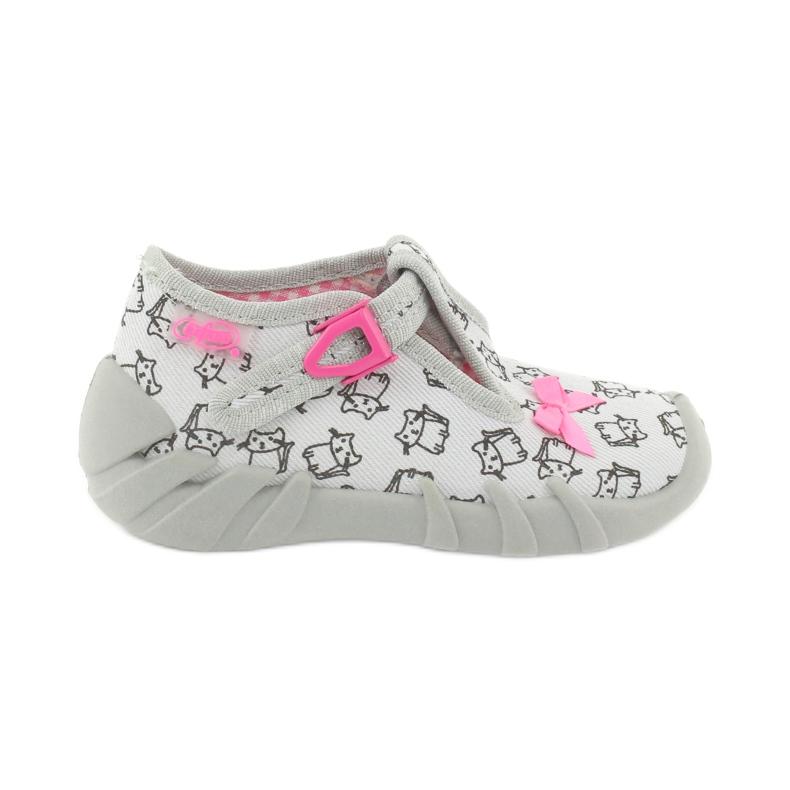 Befado obuwie dziecięce 110P377 różowe szare