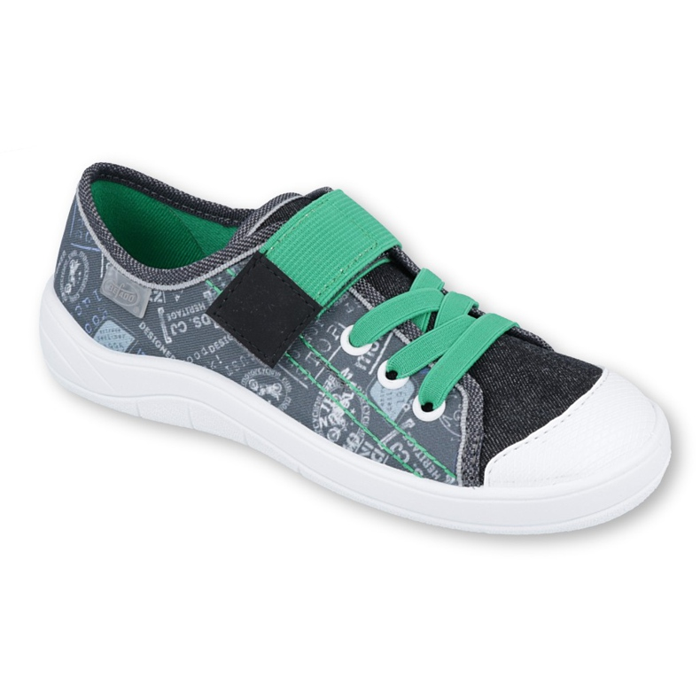 Befado obuwie dziecięce 251Y133 szare wielokolorowe zielone
