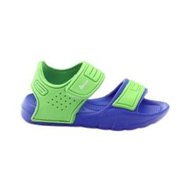 American Club sandałki do wody niebieskie zielone