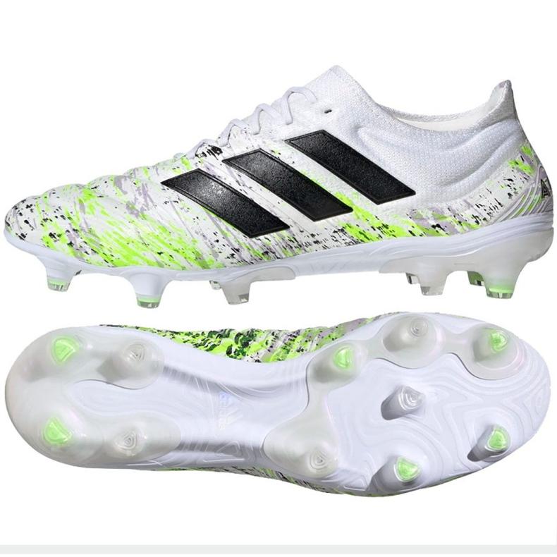 Buty piłkarskie adidas Copa 20.1 Fg M G28639 białe wielokolorowe