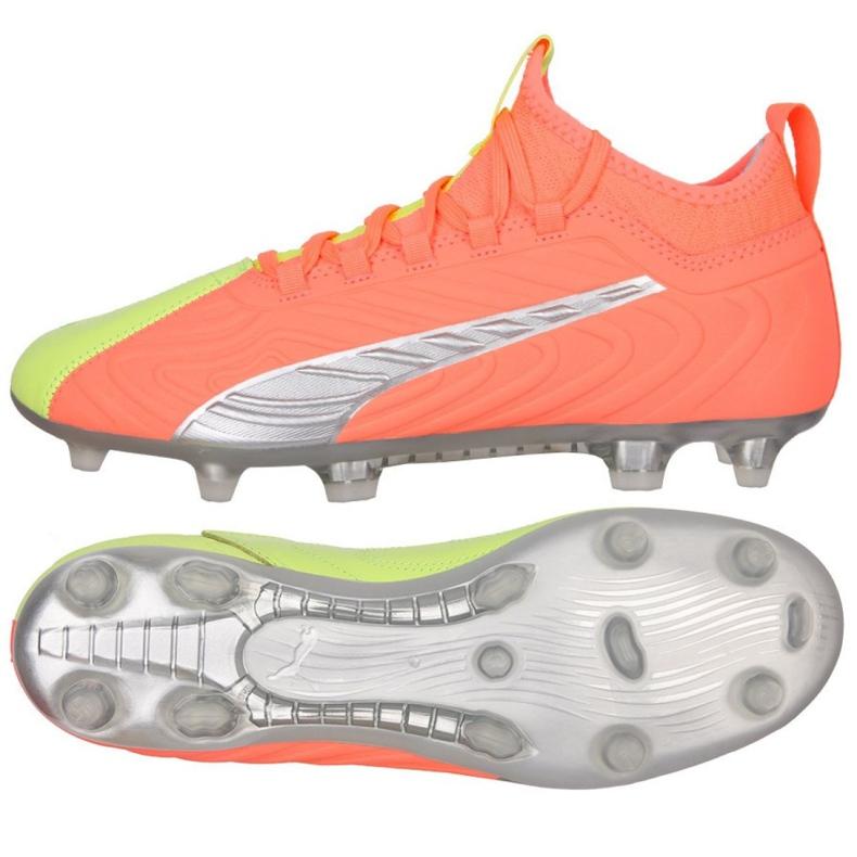 Buty piłkarskie Puma One 20.3 Osg FG/AG M 105961 01 wielokolorowe pomarańczowe