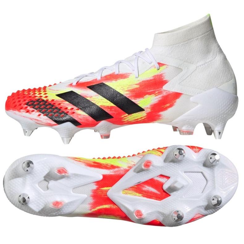 Buty piłkarskie adidas Predator Mutator 20.1 Sg M EG1601 białe wielokolorowe