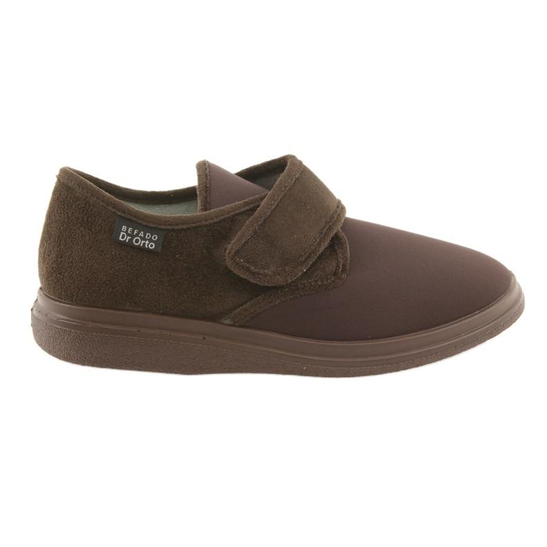 Befado obuwie męskie  pu 036M008 brązowe
