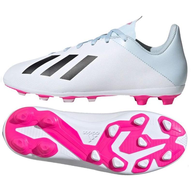 Buty piłkarskie adidas X 19.4 FxG Jr EF1616 białe wielokolorowe