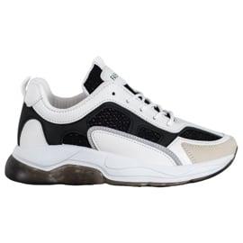 Via Giulia  Sneakersy Z Brokatem Fashion białe czarne