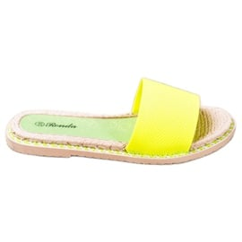 Renda Tekstylne Neonowe Klapki zielone żółte