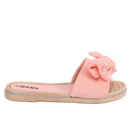Klapki damskie różowe WS9020 Pink