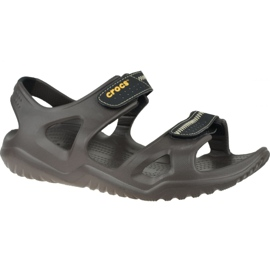 Sandały Crocs Swiftwater River Sandals M 203965-23K brązowe