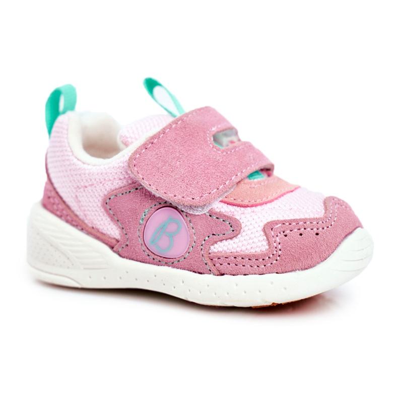 Apawwa Sportowe Buty Dziecięce na Rzep Zamszowe Różowe Malbred