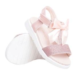 FRROCK Dziecięce Sandałki Na Rzepy Dla Dziewczynki Champagne Bella wielokolorowe różowe