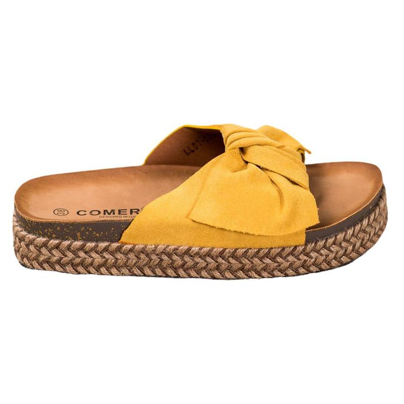 Comer Klapki Na Wysokiej Platformie żółte