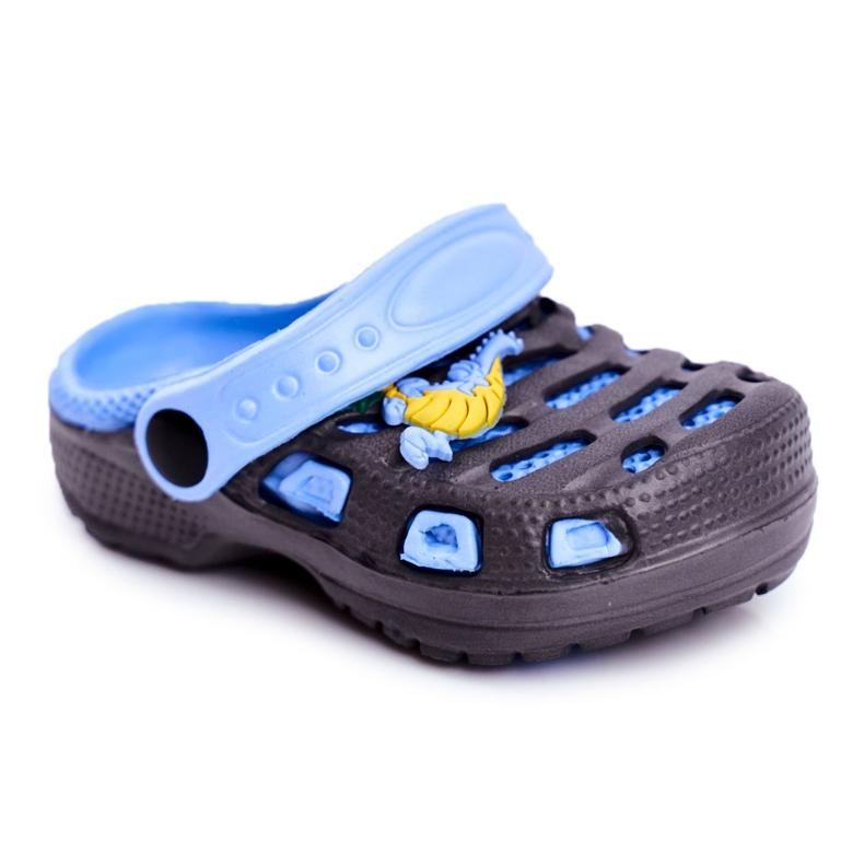 Giolan Klapki Dziecięce Piankowe Kroksy Small Dragon granatowe niebieskie