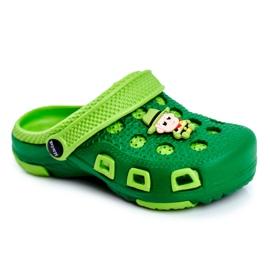 Giolan Klapki Dziecięce Piankowe Kroksy Zielone Kowboj