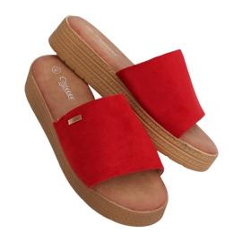 Klapki damskie czerwone G-576 Red