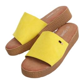 Klapki damskie żółte G-576 Yellow