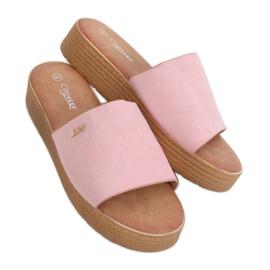 Klapki damskie różowe G-576 Pink