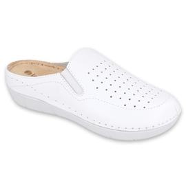 Befado Inblu obuwie damskie 158D136 białe