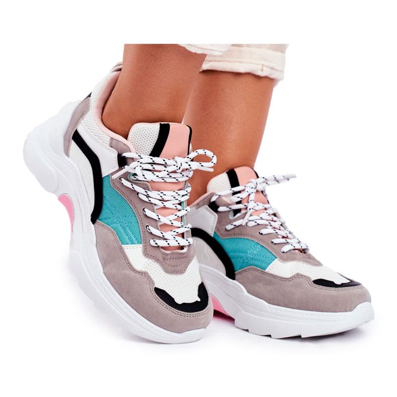 PS1 Sportowe Damskie Buty Sneakersy Biało Zielone Mindanao białe czarne różowe szare