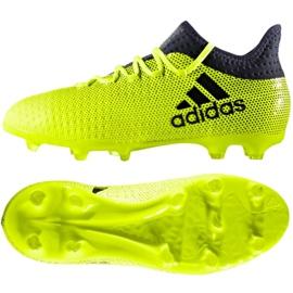 Buty piłkarskie adidas X 17.1 Jr S82297 wielokolorowe zielone