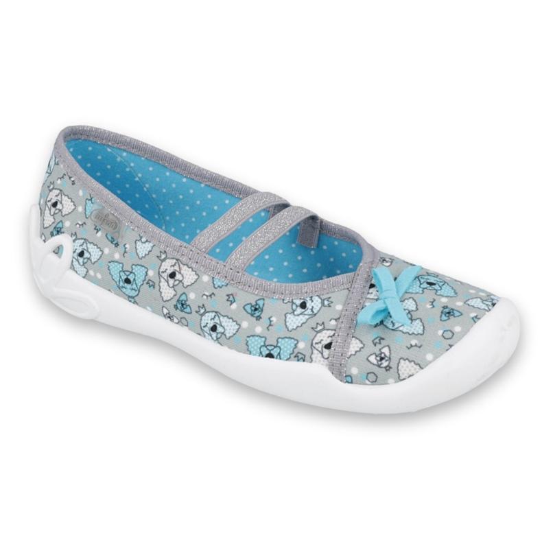 Befado obuwie dziecięce 116Y274 niebieskie szare