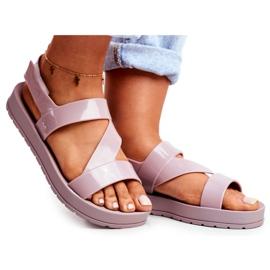 Damskie Sandały Pachnące Gumowe ZAXY Beżowe DD285066 beżowy