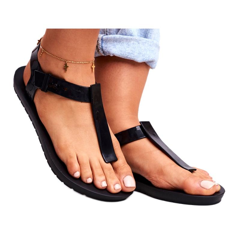 Damskie Sandały Pachnące Gumowe ZAXY Czarne DD285039