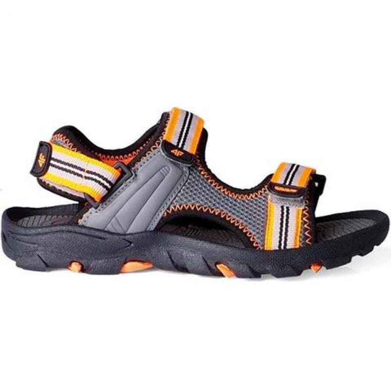 Sandały 4F Jr HJL20-JSAM003 90S pomarańczowe szare