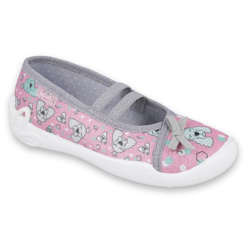 Befado obuwie dziecięce 116X282 różowe szare