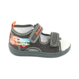 American Club American sandałki buty dziecięce wkładka skórzana TEN46 pomarańczowe szare