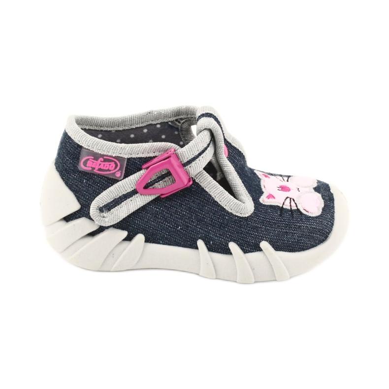Befado obuwie dziecięce 110P378 granatowe różowe szare