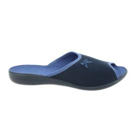 Befado obuwie damskie pu 254D083 granatowe niebieskie