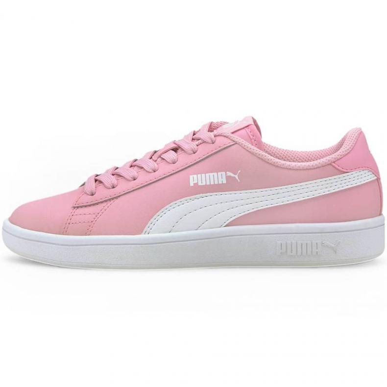 Buty Puma Smash v2 L Jr 365170 24 czarne różowe