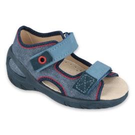 Befado obuwie dziecięce pu 065P146 granatowe niebieskie