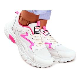 Sportowe Damskie Białe Buty Lu Boo Róż Dazzle Me różowe
