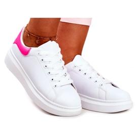 Sportowe Damskie Buty Lu Boo Białe Fuksja Zapiętek Matilda różowe