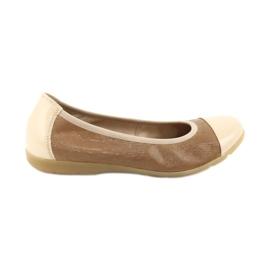 Caprice buty damskie balerinki 22152 skóra beżowy