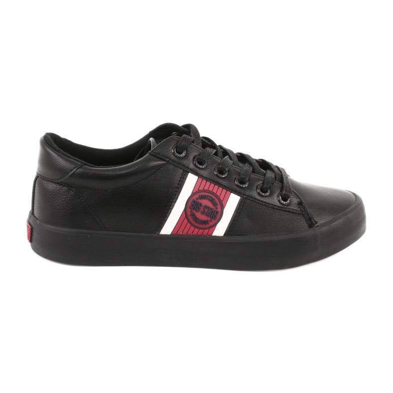 Trampki buty sportowe Big star GG174111 czarne białe czerwone
