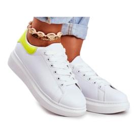 Sportowe Damskie Buty Lu Boo Białe Matilda żółte