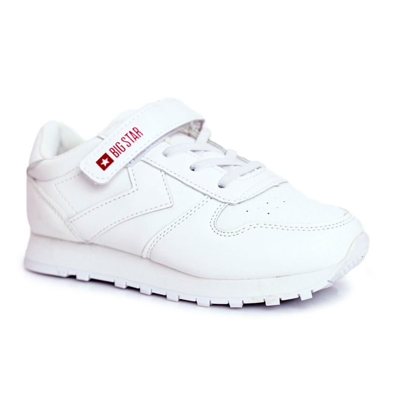 Sportowe Buty Dziecięce Big Star Na Rzepy Białe GG374057