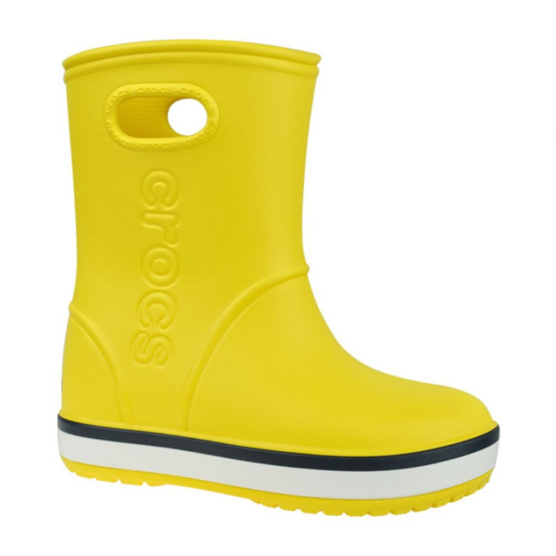 Kalosze Crocs Crocband Rain Boot Kids 205827-734 czerwone żółte
