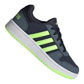 Buty adidas Hoops 2.0 Jr FW3171 czarne granatowe zielone