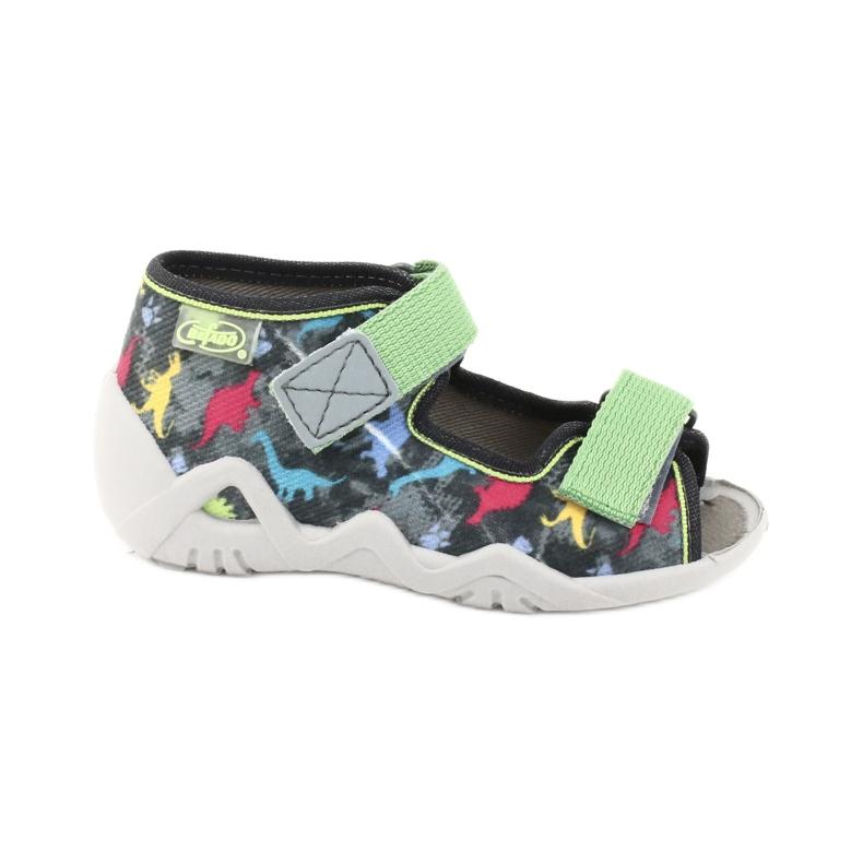 Befado obuwie dziecięce 250P092 szare wielokolorowe zielone