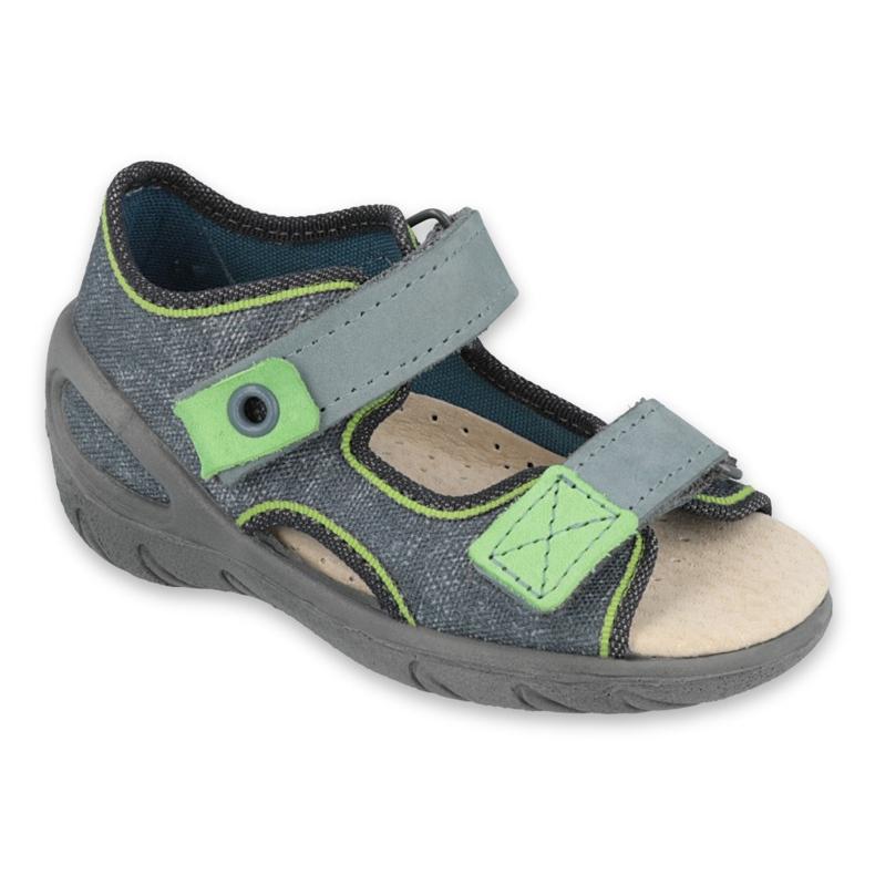 Befado obuwie dziecięce 065X141 szare zielone