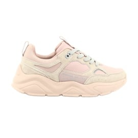 Buty sportowe Hell Rosa Big Star GG274655 beżowy różowe szare
